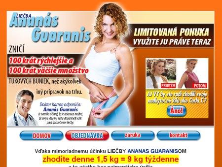 Chudnutie Ananás Guaranis