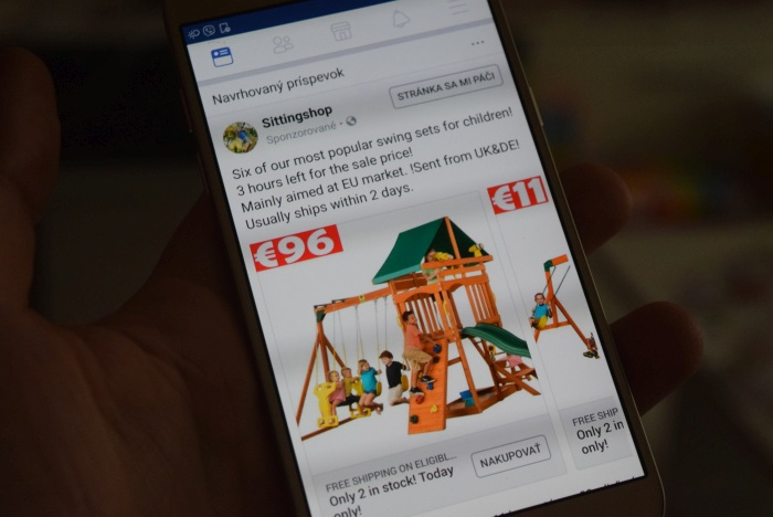 Detské ihrisko Playse z reklamy na Facebooku