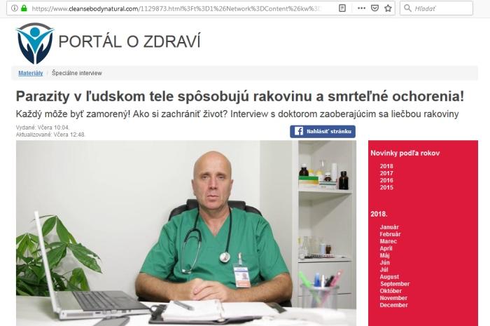 Doktor Barček parasifort podvodníci