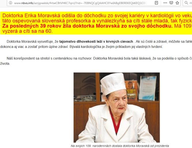 Doktorka Erika Moravská