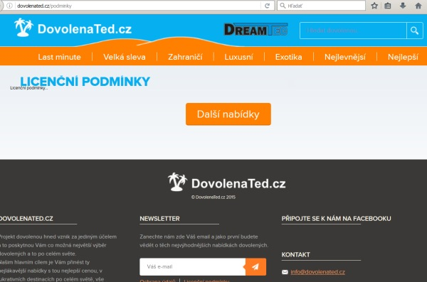 dovolenated-licencnipodminky