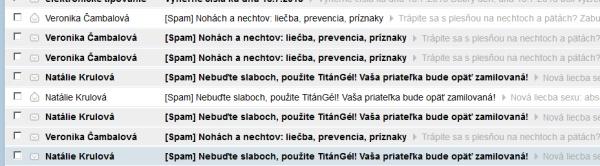 email spam na TitánGél
