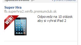 Facebook reklama iPhone sutaz