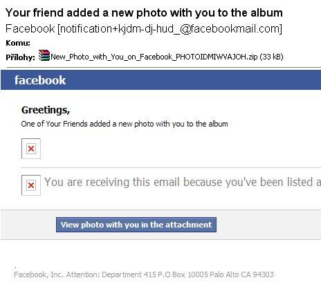 Ďalší vírus spojený s Facebookom, tentoraz cez emaily