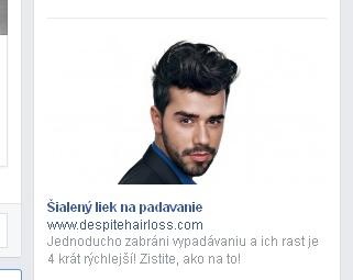 Facebook reklama plešatosť