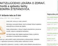 Ďalší údajný blog, tentoraz akéhosi Ľubomíra Štefanoviča