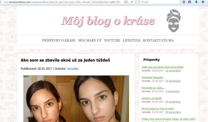 Falošný blog Black Mask