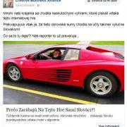 Facebook reklama propaguje podvodný hazardný web s chybou