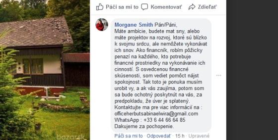 Finančný spam cez Facebook, pozor na podvodné pôžičky