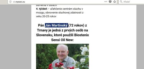Ján Martinský z Trnavy, vymyslená identita podvodnej stránky