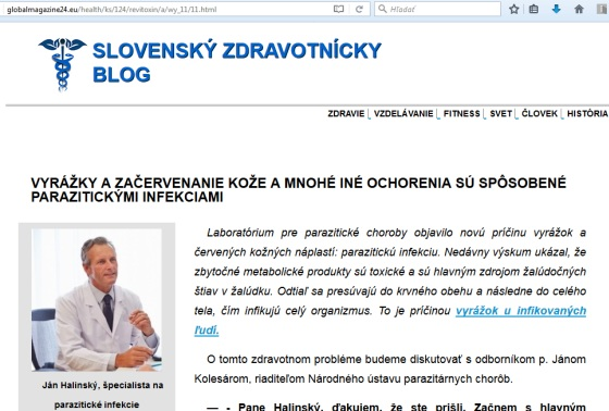Ján Halinský, falošný lekár a predáva revitoxin