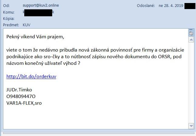 KUV spam variaspam