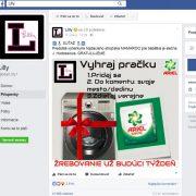 Facebook stránky Lilly a jej falošné súťaže o práčku