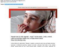 Pozor: falošná zbierka pre choré dievča menom Linda, posiela emaily