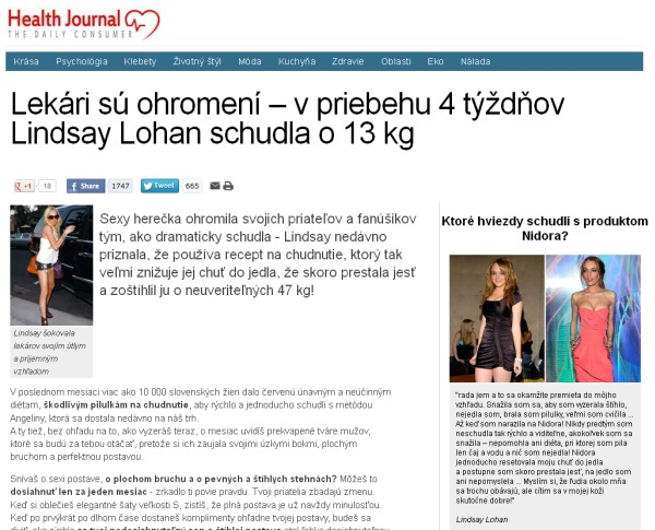 Lindsay Lohan Health