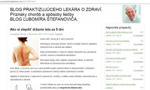 Ľubomír Štefanovič a podvod PostureFixerPro