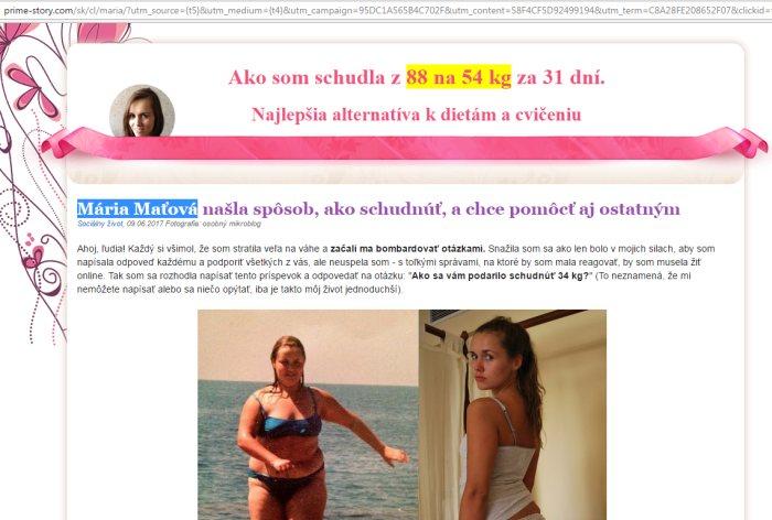 Mária Maťová a podvod Choco Lite