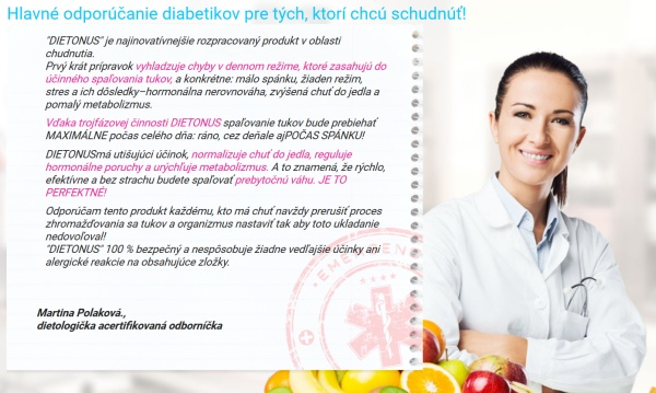 Dietonus podvodné chudnutie