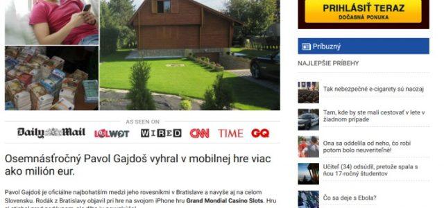 Podvodné stránky a 17 ročný Pavol Gajdoš, milionár z mediabarge.com