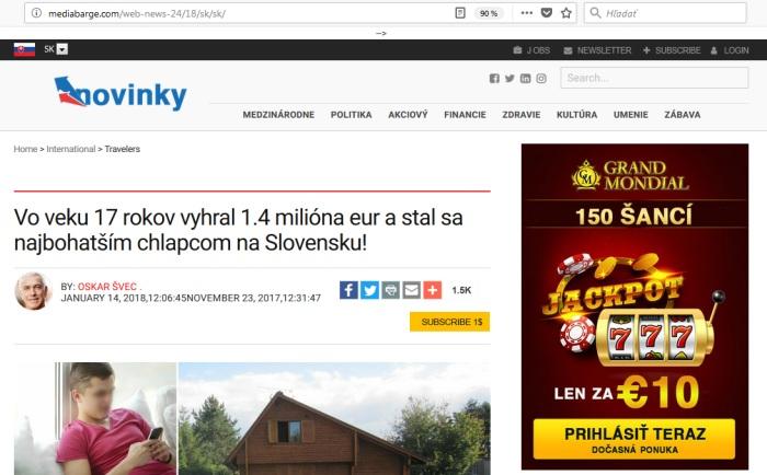 Media barge podvodné stránky, Pavol Gajdoš z Bratislavy