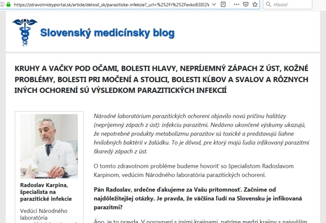 Medicinsky blog a falošný lekár