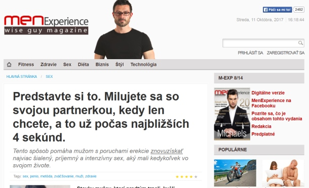 Men Experience falošný magazín a jeho Man Pride