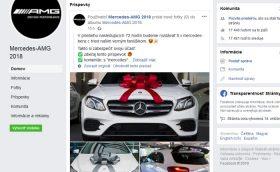 Mercedes facebook podvodná súťaž