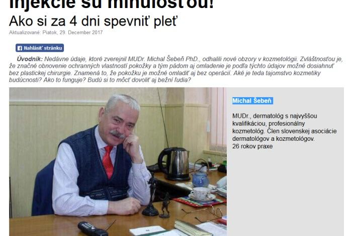 michal Šebeň proffesor a doktor, falošný lekár