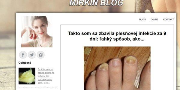 Pozor na falošný Mirkin Blog na fungushelpblog.com