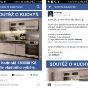 Falošná FB súťaž o kuchynskú linku za 180000 na českej stránke Voloviny