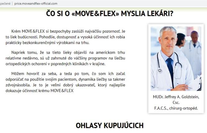 Moveandflex, Move&flex podvodné praktiky falošný lekár