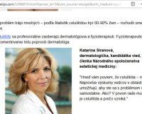 Pozor na liek proti celulitíde CELLUONE, Mudr. Siranovú a Topcellulitetips.com