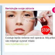 Krém Hydroface v reklamách, podvodné stránky a falošní lekári