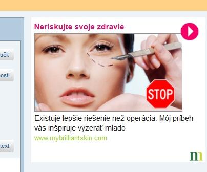 Neriskujte zdravie, reklama na centrum.sk