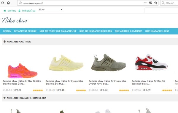 Nike Obchod WARMEY