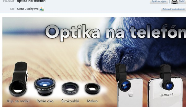 Optika na mobily