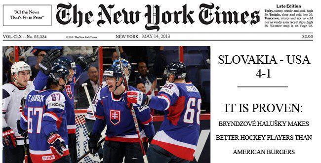NY Times slovenskí hokejisti
