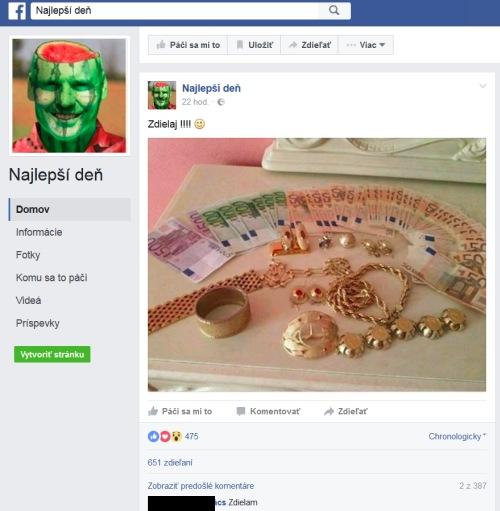Podvodné súťaže na facebooku, najlepsí deň