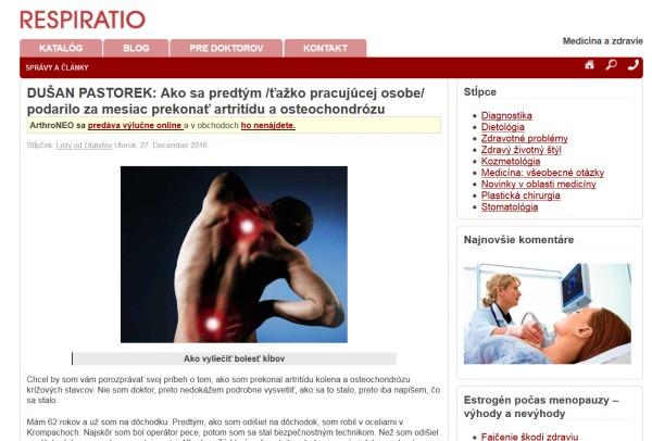 podvodná liečba artritídy