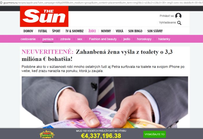 Podvodné stránky The Sun rusi, guurmwru.ru