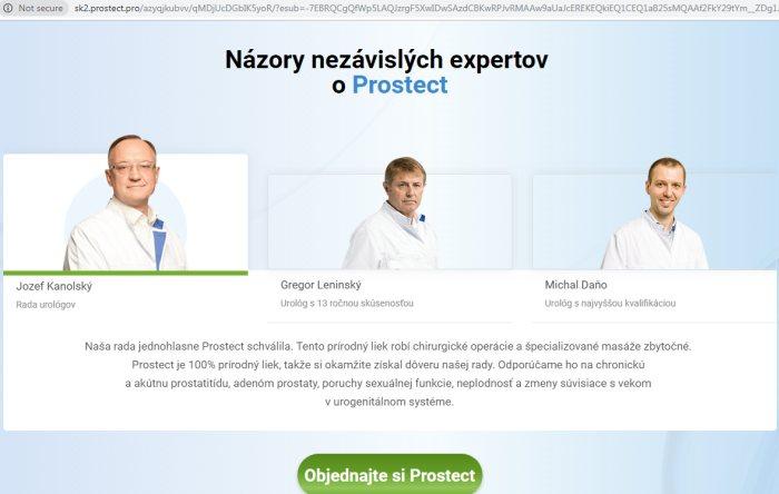 podvodní lekári PROSTECT