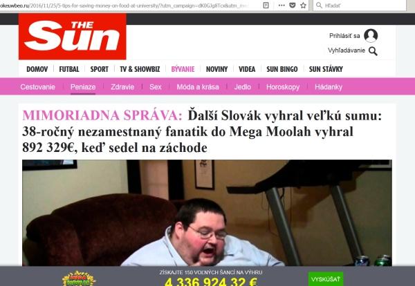 Megalooh hazardné hry a podvodníci na falošnom webe