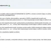 Email s ponukou na riešenie GDPR z adresy: policia@policiaodporuca.fun