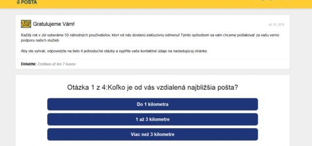 Podvodná súťaž a zneužitá Slovenská pošta, a.s. s vraj exkluzívnou odmenou