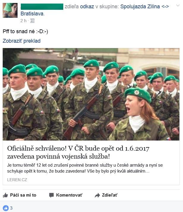 Povinná vojenská služba Česká republika