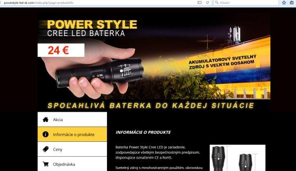 Power style baterka LED