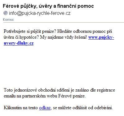 Půjčky spam