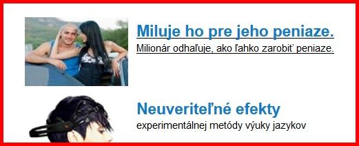 Falošn éreklamy milionári, Azet.sk