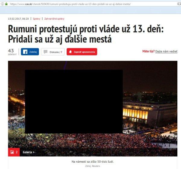 Rumuni protestujú