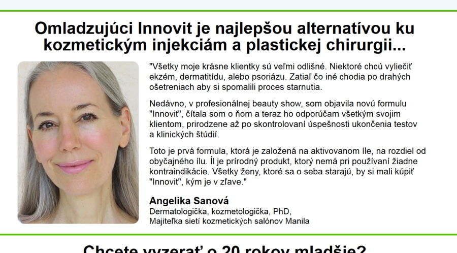 Innovit omladnutie kozmetika pozor Dr. Sanová